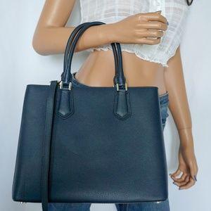 310f47c631b2 Michael Kors Bags - Michael Kors Adele LG Satchel Leather Navy Cement